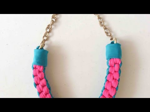 How To Make a Cool Knotted Fabric Necklace - DIY Style Tutorial - Guidecentral