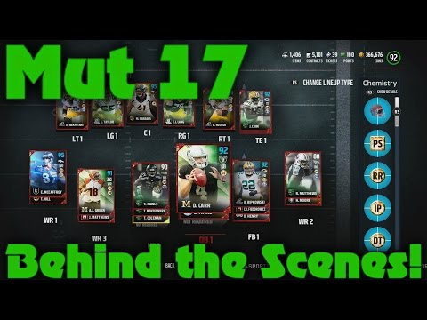Madden 17 Ultimate Team Behind the Scenes!! Amazing NAT Toty Pull!!