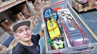 I STOLE ALL OF THIS... (Raiding a skateboard warehouse) | Garrett Ginner