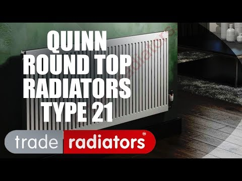 Quinn Round Top Radiator, White, 600mm x 1200mm Double Panel, Single Convector