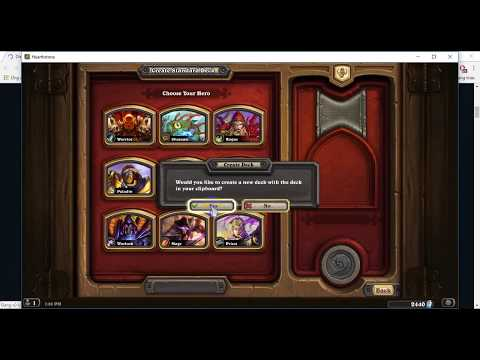 How to netdeck from Hearthpwn in 10 seconds