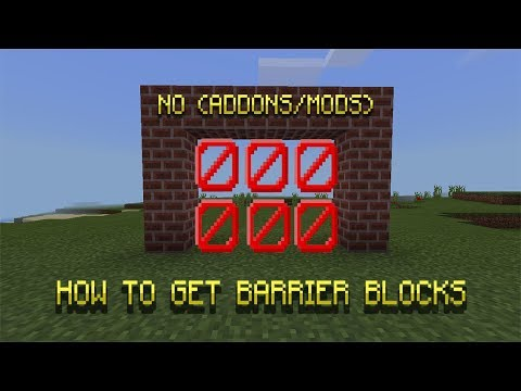 HOW TO GET BARRIER BLOCK IN MCPE 1.2+ (no addons/mods)