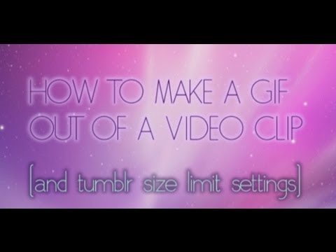 PHOTOSHOP TUTORIAL: How to make a GIF from video (+Tumblr Size Limit Settings)