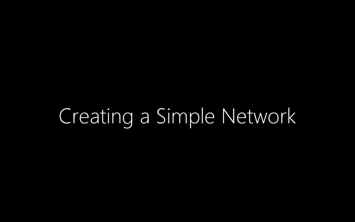 Creating a Simple Network
