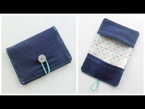{Step-by-Step Sewing} Fabric Business Card / Money Card Holder