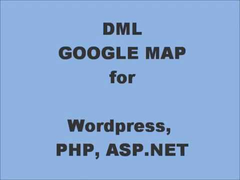 Google Map Plugin for Wordpress, PHP and ASP.NET