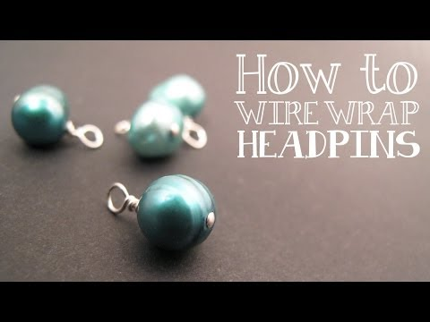 How to Wire Wrap a Bead Dangle : Wire Wrapping Tutorial - Jewelry Tutorial HQ