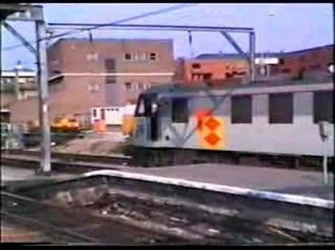 Trains at Colchester, Stratford and Kings Cross 1993