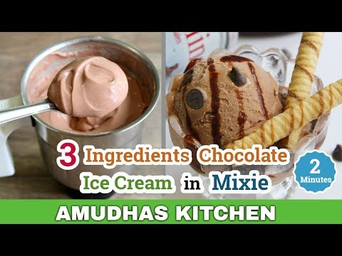 Chocolate Ice Cream in Mixie | How to make Ice Cream in Tamil | Eggless Ice Cream