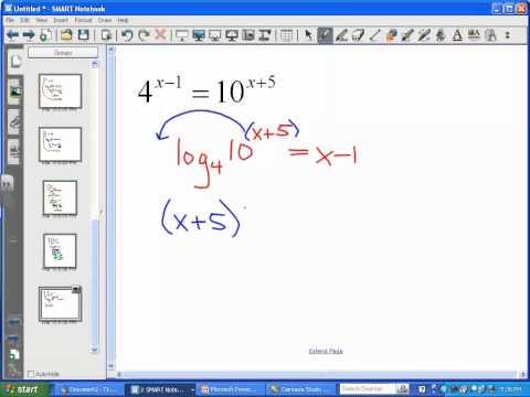 Solving Exponential Equations (Part 3) - LT11
