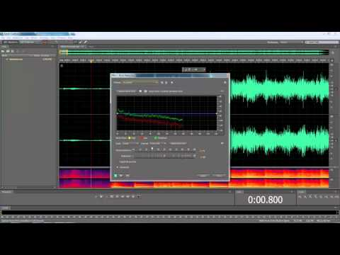 How to easily remove static from audio in Adobe Audition / Audacity
