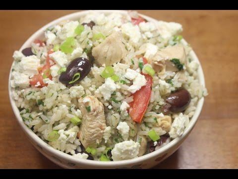 Quick Simple Chicken Recipe (Greek Chicken And Rice)