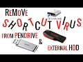 How to remove shortcut virus from  USB Pendrive & USB external HDD