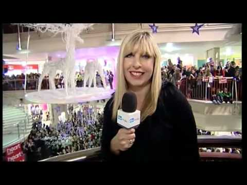 Anglia News Norwich Castle Mall Shopping Centre X Factor & Britain's Got Talent stars wow crowds