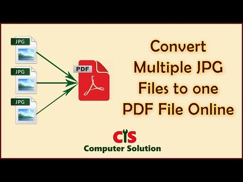 How to convert Multiple jpg files to one PDF file | Combine PDF file
