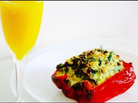 Stuffed Peppers with Mushroom and Rice Vegetarian healthy food baked rice street food dolma umplut