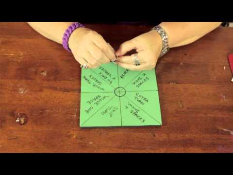 How to Make Game Spinners With a Paper Clip : Bows & Craft Tips