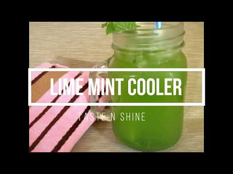 Lime Mint Cooler Recipe | Tasty N Quick Summer Drink