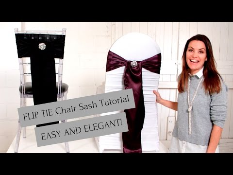 Chair Sash Tutorial, Flip Tie Method- Easy and Beautiful
