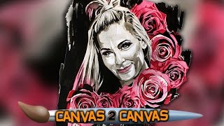 The Queen of Harts hits the canvas: WWE Canvas 2 Canvas