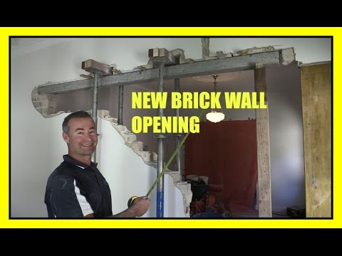 How To Remove A Brick Load Bearing Wall - New Opening