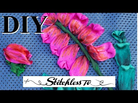 DIY How to Sew GIANT Ribbon Embroidery
