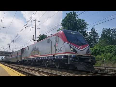Lots of Horn at Folcroft featuring Amtrak and SEPTA 7/23/17
