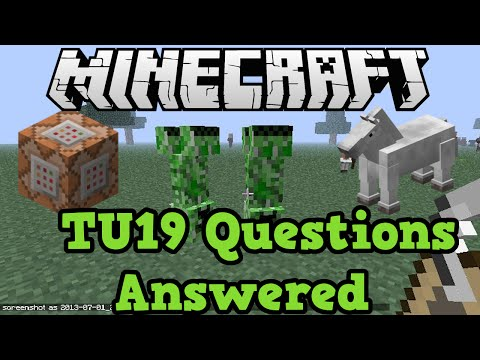 Minecraft Xbox + PS4 TU19 QnA - Name Tags, Command Blocks & Stained Glass