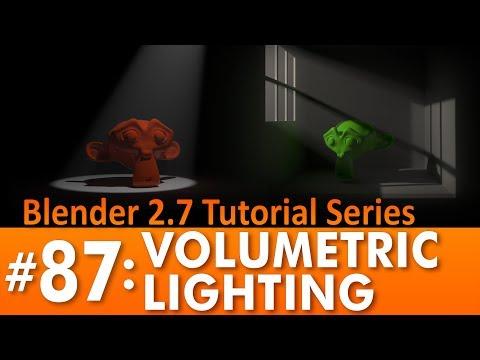 Blender 2.7 Tutorial #87: Volumetric Lighting in Cycles #b3d