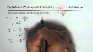 Steps To Convert Radians To Degrees Without Calculator