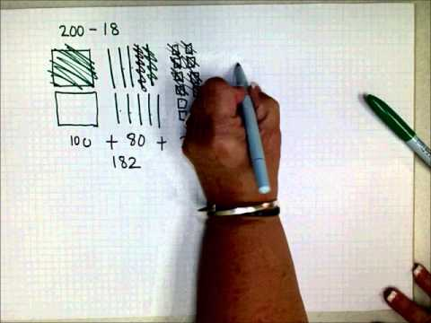 SCC Math 205 Model Base 10 Subtraction By Drawing