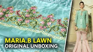 f60170a306 Latest Maria B Eid Collection 2019 - Unboxing Sea Green D2A - Sara Clothes