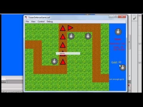 How to make a TOWER DEFENSE GAME in flash (AS3) part 1