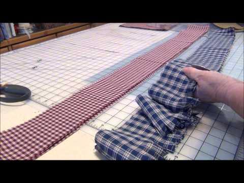 How to Make a Christmas Garland with Homespun Fabrics