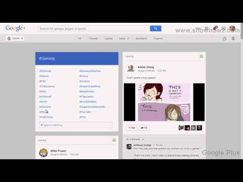 Google+ - How To See Gaming Posts On Google Plus
