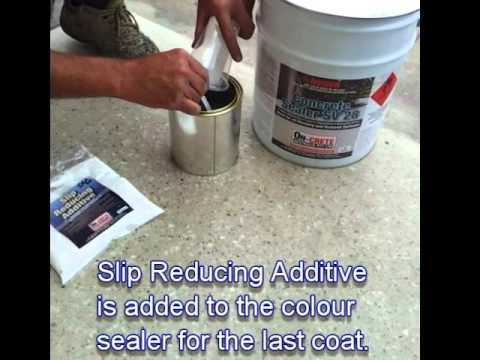 Slip Reducing Concrete Sealer Additive