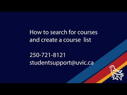 How to search for UVic courses