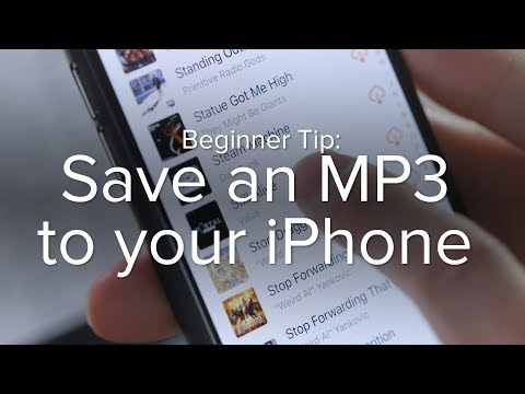 How to save an MP3 to your iPhone
