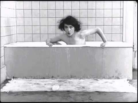 Buster Keaton's One Week - Sybil Seely takes a Bath