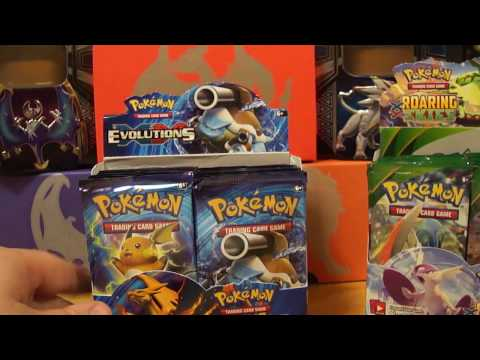 Pokemon XY Evolutions : Booster Box Opening Part 1 - Awesome Pulls !!!