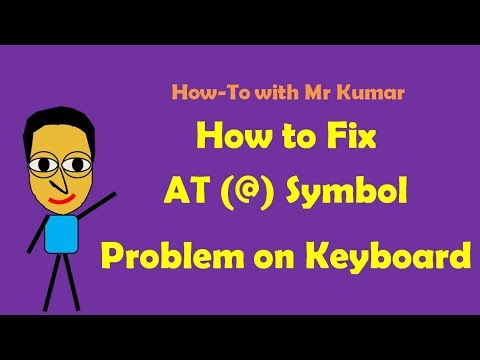 How to Fix AT Symbol Problem with Keyboard