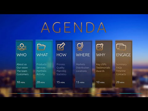 Engage Powerpoint Agenda Animation Teal