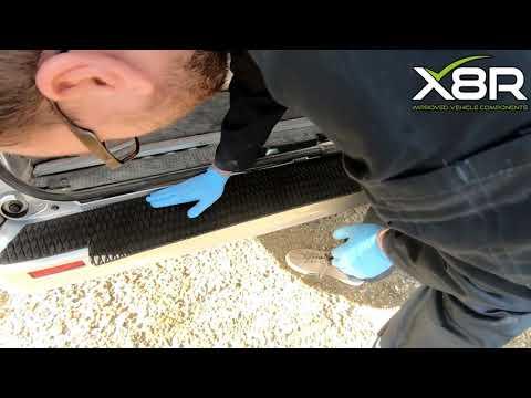 Trafic Vivaro Primastar Rear Back Bumper Trim Protection Tread Protector Over Edge Type
