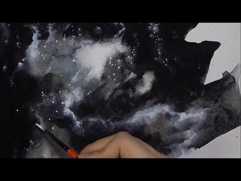 [Watercolor] A Silent Universe / 1 Hour