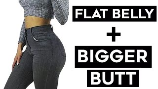 ❤️How To Get A Flat Stomach + Bigger Butt | 4 Workouts For Bigger Booty and Flat Belly!