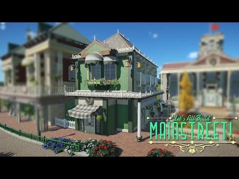 Planet Coaster - Corner Shop & Disney World Facts! | Building Mainstreet! #4