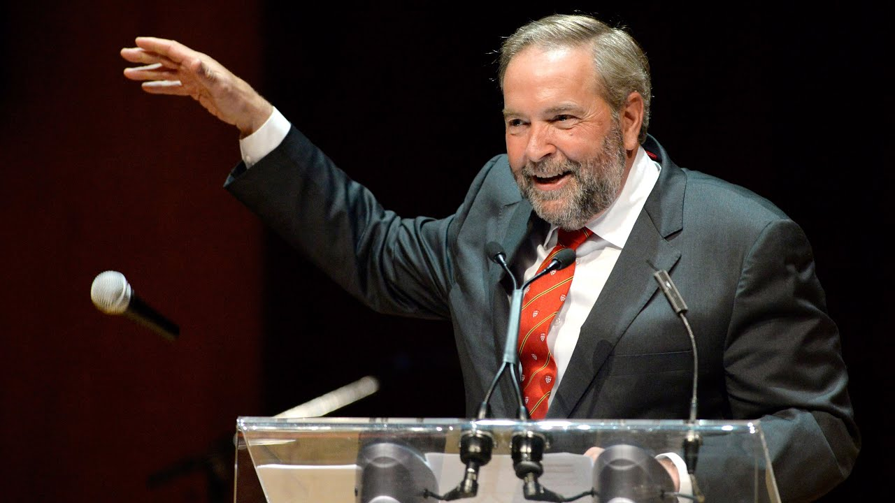Mulcair, out! NDP Leader literally drops the mic