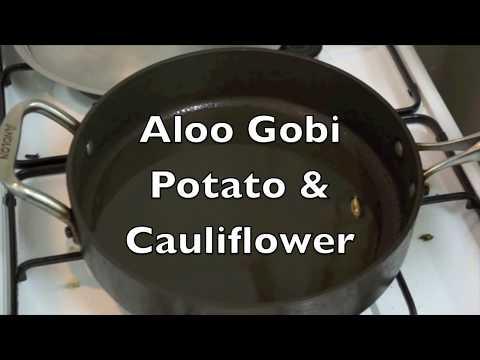 Aloo Gobi - Potato Cauliflower Recipes - Hindi English Vegan