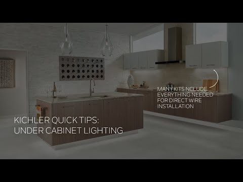 Kichler Under Cabinet Light Installation Quick Tip