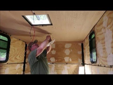 box trailer camper build part 8